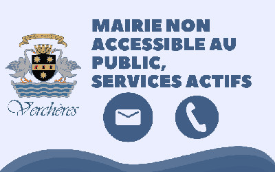 Verchères: mairie non accessible, mais services actifs
