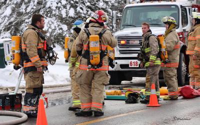 Incendie à Saint-Ours: une intervention professionnelle du Service incendie