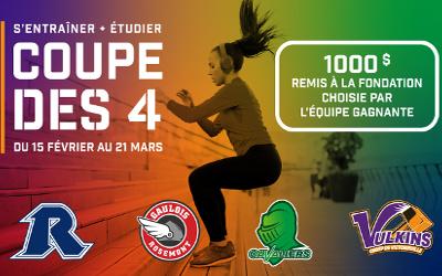 Les Rebelles du Cégep de Sorel-Tracy participeront à la Coupe des 4 !