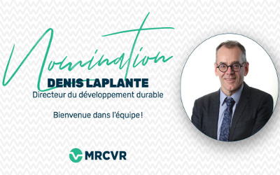 Nomination de Denis Laplante à la direction du Service du développement durable