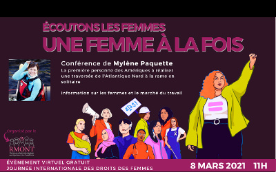 L'Orienthèque reprend avec le RMONT la campagne Une femme à la fois: PRÊTE… crée ton avenir!