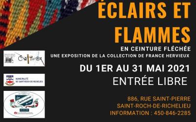 Maison de la culture Saint-Roch-de-Richelieu: Exposition Éclairs et flammes en ceinture fléchée