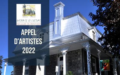 Expositions 2022 à la Maison de la culture Eulalie-Durocher: appel d'artiste