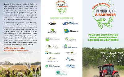 Des capsules vidéo pour présenter les réalités agricoles en Montérégie: « NOTRE CAMPAGNE, UN MILIEU DE VIE À PARTAGER »