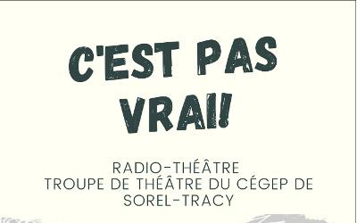 La troupe de théâtre du Cégep de Sorel-Tracy innove et présente un radio-théâtre!
