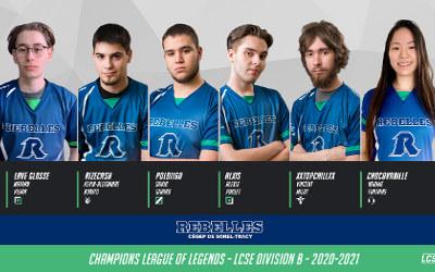 Les Rebelles Beta champions de la Ligue Collégiale de Sports Électroniques