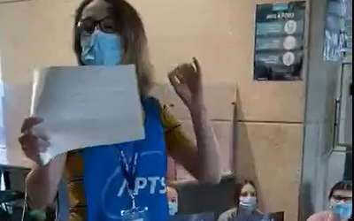 Mobilisation éclair de l'APTS à l'Hôpital Pierre-Boucher pour souligner le rejet des «nouvelles» offres de la ministre LeBel