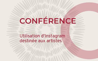 Invitation à la conférence sur l'utilisation d'Instagram destinée aux artistes