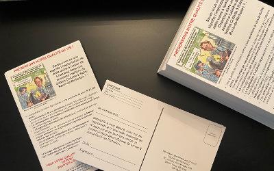Opposition à l'usine de fumier de Champag: mobilisation cartes postales
