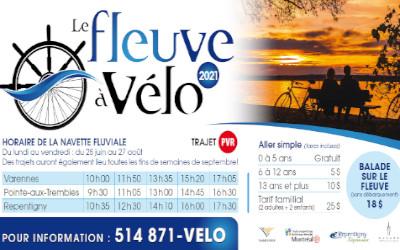 Varennes: les navettes Fleuve à vélo sont de retour!