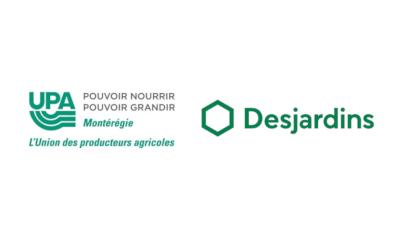 Desjardins s'associe à l'UPA Montérégie et investit 450 000 $ sur 3 ans pour encourager et soutenir l'agriculture durable en Montérégie