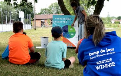 « L'agriculture, ma voisine ! »: une activité d'animation bien appréciée des enfants au camp de jour cet été