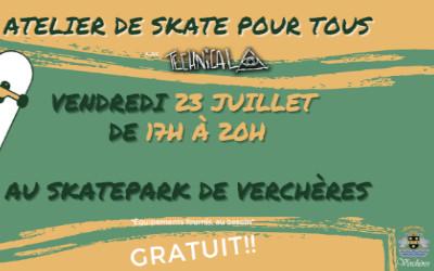Verchères: Atelier de skate le 23 juillet