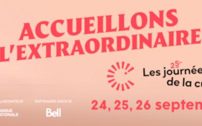 Les Journées de la culture à la Maison de la culture de Saint-Roch-de-Richelieu