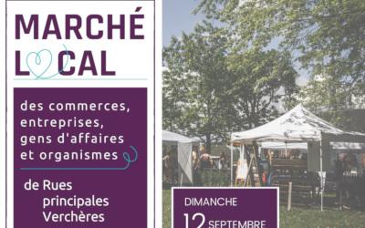 À mettre à votre agenda: le Marché local des commerces, entreprises, gens d'affaires et organismes de Rues principales Verchères