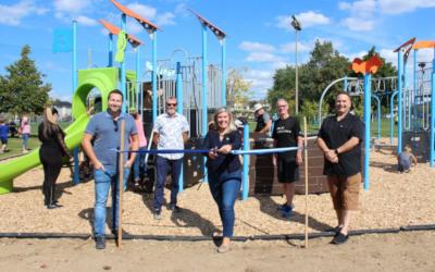 Contrecoeur: franc succès pour l'inauguration des nouveaux modules de jeux au parc Antoine-Pécaudy