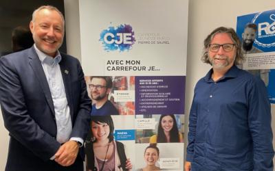 Le député Jean-Bernard Émond annonce l'attribution de plus de 354 000$ pour soutenir la réalisation de la mission du Carrefour jeunesse-emploi de Pierre-De Saurel