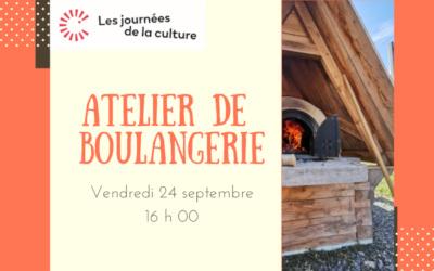 Maison de la culture Eulalie-Durocher: atelier de démonstration de boulangerie