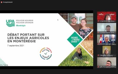Élections fédérales 2021: les enjeux agricoles et forestiers au cœur du débat politique en Montérégie