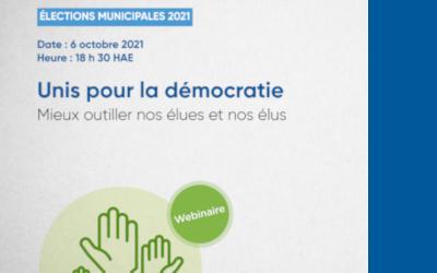 Élection générale municipale 2021:  la ministre des Affaires municipales et de l'Habitation invite les candidates et les candidats à un webinaire
