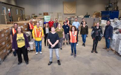 Desjardins apporte son soutien à L' Atelier – Centre de travail adapté pour mettre en valeur les humains et revaloriser les matières