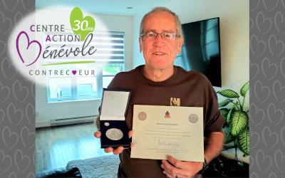 Une médaille d'argent du Lieutenant-gouverneur du Québec pour M. Jean Gauthier