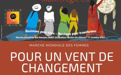 Le 17 octobre prochain: Marche mondiale des femmes