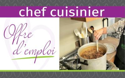Centre d'action bénévole de Contrecoeur: Offre d'emploi, chef cuisinier