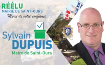Élections municipales à Saint-Ours: Sylvain Dupuis réélu maire sans opposition