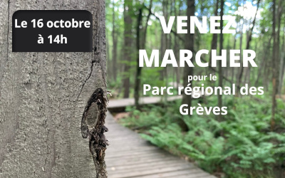 Marchons pour le Parc régional des Grèves