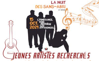 Nuit des sans-abri: Artistes recherchés